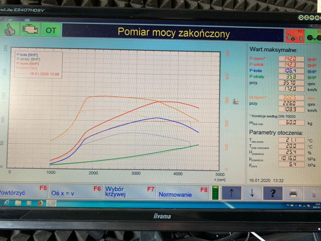 Chiptuning BMW F20 114D 95 HP